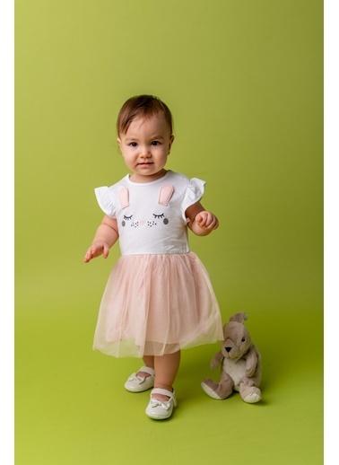 Mininio Beyaz Bunny Elbise (3-24ay) Beyaz Bunny Elbise (3-24ay) Beyaz